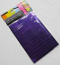 NEW 150 SELF ADHESIVE GLASS MIRROR SQUARES TILES MOSAIC CRAFT 1CM SIL PURPLE