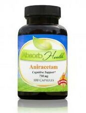 Absorb Health Aniracetam 100 Capsules 750 mg Cognitive Support Brain Memory New