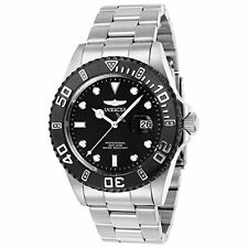Invicta 23475 Men's Pro Diver Diamond Black Dial Steel Bracelet Dive Watch