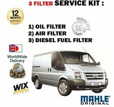 FOR FORD TRANSIT 2.2 TDCi 4/2006-  NEW SERVICE KIT OIL AIR FUEL FILTER (3 ) KIT