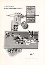 1961 SUCHARD Milka Chocolate Vintage German Magazine Ad - Deutsch Werbung
