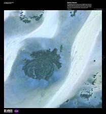 Carte de la science désert Sahara satellite la Libye Jebel réplique Poster Print pam1580