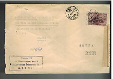 1942 Moscow Russia USSR Censored Library 19 cover to Nice France