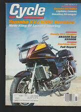 Cycle Magazine June 1983 Yamaha XVZ1200 Venture Honda Suzuki Motorcycle