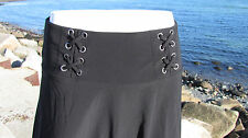 NEW S The Pyramid Collection skirt black swingy flare rayon graceful pretty sexy