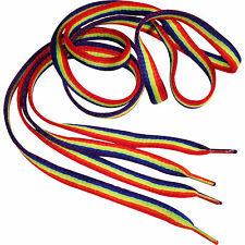 Pair of Gay Pride Rainbow Flag Shoe Laces for Womens Mens Trainers Shoes Boots