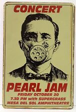 Pearl Jam Concert Vintage Retro Tin Metal Sign Plaque Home Decor Studio