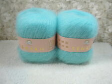 6*50g Skeins Luxury Angola Mohair CashmereWool Knitting Yarn Lot;300g;light blue