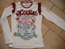 (24) Nolita Pocket Girls Langarm Shirt + Logo Stickerei + Druck & Besatz gr.92