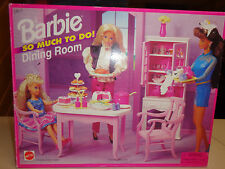 NIB MATTEL BARBIE DOLL SO MUCH TO DO DINING ROOM FURNITURE PLAYSET   1995  RARE