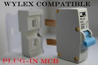Wylex plug in MCB compatible fuse 6 amp - 16 amp - 32 amp trip switch