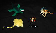 Lot Five (5) Hard Rubber Assorted Prehistoric Figurines Toys Dinosaurs Creatures