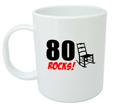 80 Rocks, 80th Birthday Gift Mug, Ideal Gifts for 80 Year Old Men or Women