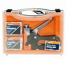 3 WAYS HEAVY DUTY STAPLE GUN TACK GUN NAIL GUN 600 STAPLES CABLE TACKS NAILS NEW