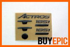 Metall Sticker, Aufkleber Dekor für Tamiya 1:14 Mercedes Benz Actros 1851
