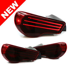 2013+ SUBARU BRZ ZC6 / SCION FR-S HELIX/DEPO LED TAILLIGHTS -  RED/BLACK