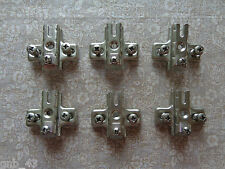 Lot of 6 New Old Stock Hafele Screw On Cross Mounting Plates #B4