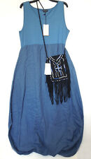 RRP £149, JAMES LAKELAND, MADE IN ITALY, 22 UK Blue Linen Bubble Dress LAGENLOOK