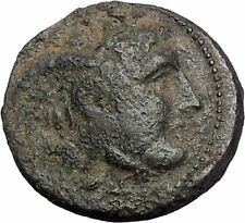 Seleukos I, Nikator  312BC Ancient Rare Greek Coin Medusa Protection Bull i47601