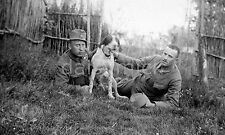 Hungarian Army Dog & Soldiers World War 1 Hungary 7x4 Inch Reprint Photo
