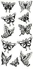 BUTTERFLY & Moth temporanea Finti Tatuaggi SEXY FASHION WATERPOOF Body Art Transfer