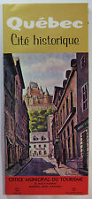 Vintage Fold Out Travel Brochure - Quebec Canada, 1965 - Map, Tourism