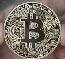 1pcs Gold Plated Iron Art Collectible Gift Coin Virtual Money Bitcoin Souvenir x