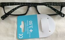 QD STORES +3.50 DESIGNER READING GLASSES .BNWT