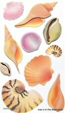 EK Success Jolee'S 3D Glitter Stickers-Conque Clam-COQUILLAGES SEA SHELLS