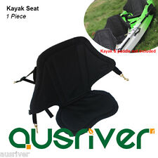 New Durable Kayak Canoe Seat Adjustable Backrest with Straps Polyester Black