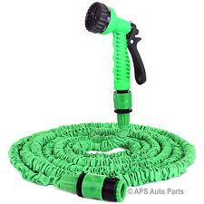 75ft 23m Expanding Flexible Latex Garden Water Hose Pipe Spray Gun Sprinkler New