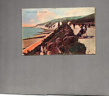 Sussex Eastbourne western parade 1927 art deco tinted card posted