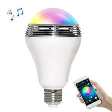 E27 Bluetooth APP Control Smart Music Speaker LED RGB Color Bulb Light Lamp N8M4