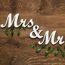 Mr and Mrs Sign Letters White Wooden Standing Top Table Wedding Decoration love