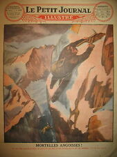 SUISSE ALPES ASCENSION ACCIDENT ROI DE BELGIQUE SAUVETEUR LE PETIT JOURNAL 1927