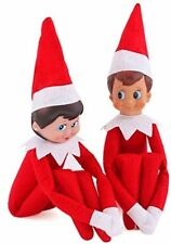 Elf on The Shelf Boy and Girl Plush Dolls Set Christmas Decoration Novelty New