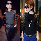 Women Sexy Lace Blouse Shirt Sweater Slim Evening Party Blouse Tops Sweatshirts