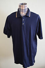 Barbour Men Polo Golf Short Sleeve Shirt Navy Blue XXXL 3XL Nice