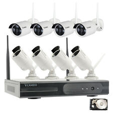 8 CH Outdoor wireless ip camera cctv system motion detector with 2TB Hard Drive