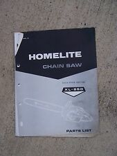 1966 Homelite Chain Saw XL-850 Parts List MORE CHAIN SAW ITEMS IN STORE  U