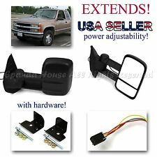 1 SET FOR 92-99 GMC YUKON/SUBURBAN POWERED EXTENDABLE SIDE MIRRORS L+R REPLACE