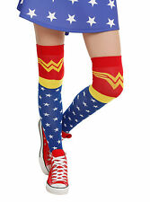 Wonder Woman Over The Knee High Costume Socks - Shoe Size 4-10 (New)