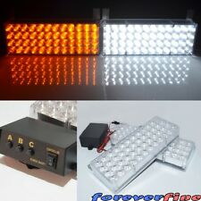 Emergency Light 96 LED Strobe Amber White Multiple Location mountable Rear Front