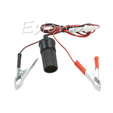 12V Car Cigarette Lighter Power Socket Battery Alligator Clip Charger Cable Wire