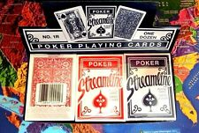 STREAMLINE POKER SIZE PLAYING CARDS 12-DECKS (6 RED, 6 BLUE)
