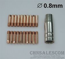 21 PCS MB-15AK MIG/MAG Welding Torch Contact Tip 140.0059 Gas Nozzle 145.0075