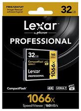 Lexar 32GB 1066x 160MB/s Compact Flash 4K UDMA 7 VPG65 Memory Card