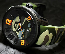 Tendence Men'S Watch Green Camo Rubber T0430030