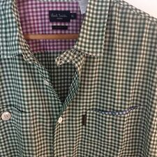 "Paul smith Jeans tailored Fit Men's XL 44"" Long Sleeve Shirt Button Front Check"