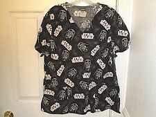 Star Wars Darth Vader Darkside Scrubs Uniform Shirt •Womens Size L Large